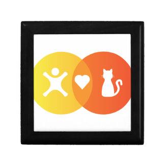 Boîte À Souvenirs Diagramme de Venn de chats de coeur de personnes