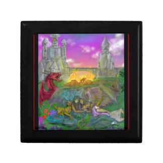 Boîte À Souvenirs Dragon d'ange d'homme de femme de licorne de