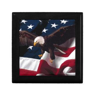 Boîte À Souvenirs Drapeau américain patriotique d'Eagle