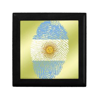Boîte À Souvenirs Drapeau argentin d'empreinte digitale de contact