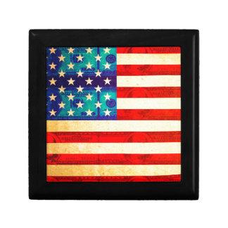 Boîte À Souvenirs Drapeau d'argent de l'Amérique