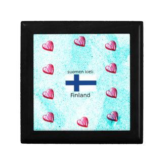 Boîte À Souvenirs Drapeau de la Finlande et conception finlandaise