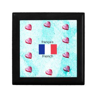 Boîte À Souvenirs Drapeau de la France et conception de langue