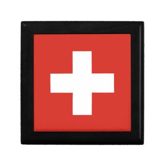 Boîte À Souvenirs Drapeau de la Suisse - meurent le der Schwe de