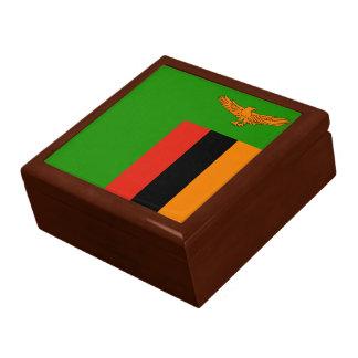 Boîte À Souvenirs Drapeau de la Zambie