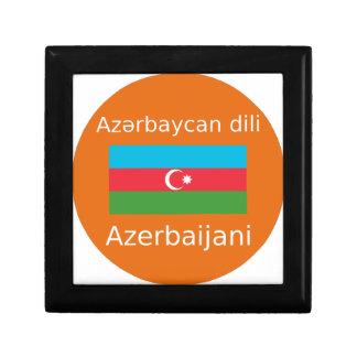 Boîte À Souvenirs Drapeau de l'Azerbaïdjan et conception de langue