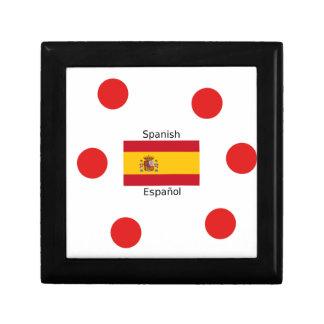 Boîte À Souvenirs Drapeau de l'Espagne et conception de langue