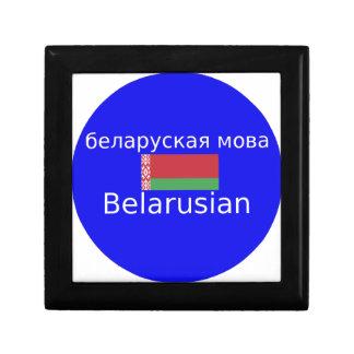 Boîte À Souvenirs Drapeau du Belarus et conception de langue