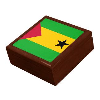 Boîte À Souvenirs Drapeau du Sao-Tomé-et-Principe