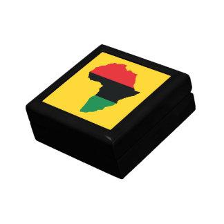 Boîte À Souvenirs Drapeau rouge, noir et vert de l'Afrique