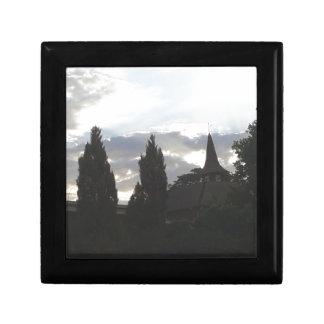 Boîte À Souvenirs Église de coucher du soleil