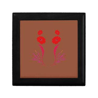 Boîte À Souvenirs Éléments de conception rouges sur le brun