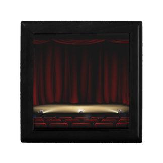 Boîte À Souvenirs Étape de théâtre avec des rideaux en théâtre