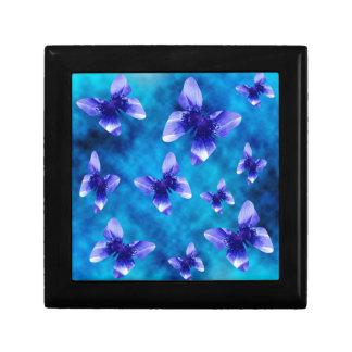 Boîte À Souvenirs Été bleu de papillon