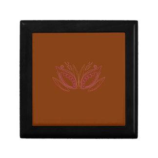 Boîte À Souvenirs Ethno brun de mandalas de conception