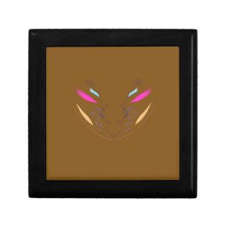 Boîte À Souvenirs Ethno brun d'éléments de conception