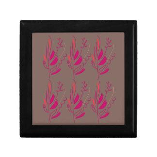 Boîte À Souvenirs Ethno rouge-rose d'éléments de conception