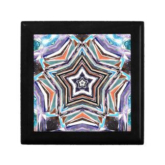 Boîte À Souvenirs Étoile spectrale abstraite