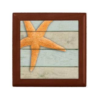 Boîte À Souvenirs Étoiles de mer oranges