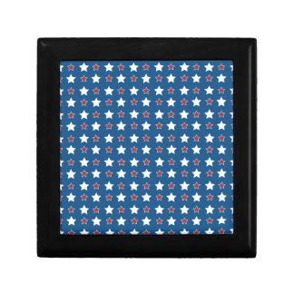 Boîte À Souvenirs Étoiles patriotiques blanches et bleues rouges