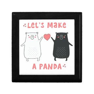 Boîte À Souvenirs faisons un panda