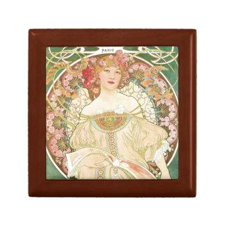 Boîte À Souvenirs Femme d'illustration d'Alphonse Mucha de loisirs