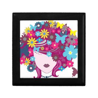 Boîte À Souvenirs Femme florale de cheveux de papillon