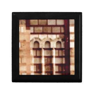 Boîte À Souvenirs fenêtre brune de bloc