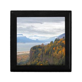 Boîte À Souvenirs Feuillage d'automne à la gorge du fleuve Columbia
