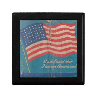 Boîte À Souvenirs Fier vintage d'être copie patriotique américaine