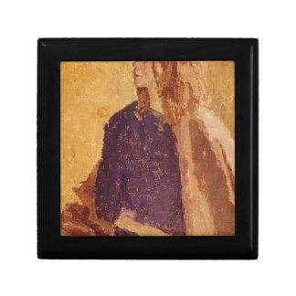 Boîte À Souvenirs Fille d'art de post impressionnisme dans le profil