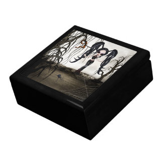 Boîte À Souvenirs Fille de Goth de sépia