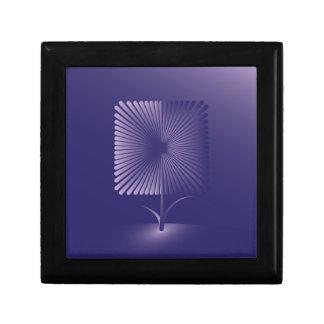 Boîte À Souvenirs Fleur carrée de violette