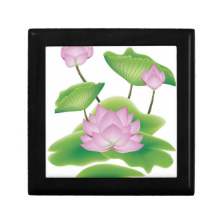 Boîte À Souvenirs Fleur de Lotus avec le feuille