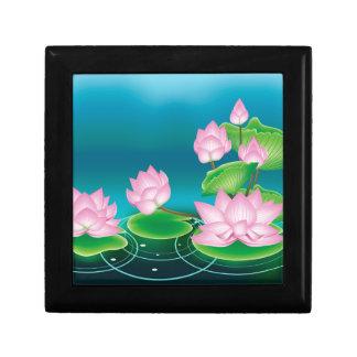Boîte À Souvenirs Fleur de Lotus avec le feuille 2