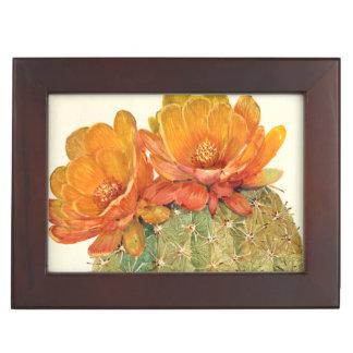 Boîte À Souvenirs Fleurs d'orange de cactus