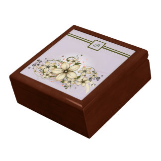 Boîte À Souvenirs Fleurs élégantes