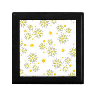 Boîte À Souvenirs Fleurs, étoiles et points modernes colorés