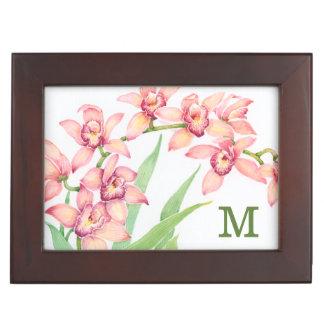 Boîte À Souvenirs Fleurs roses d'aquarelle