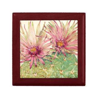 Boîte À Souvenirs Fleurs roses de cactus