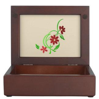 Boîte À Souvenirs Fleurs rouges