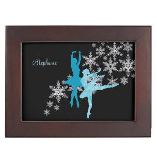 Boîte À Souvenirs Flocon de neige bleu de ballerine