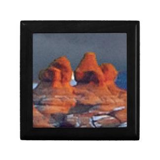 Boîte À Souvenirs formes des roches rouges