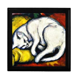 Boîte À Souvenirs Franz Marc - chat blanc. Peinture 1912 de Franz
