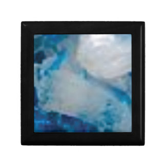 Boîte À Souvenirs gemme de couleur bleue