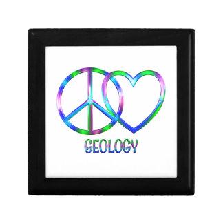 Boîte À Souvenirs Géologie brillante d'amour de paix