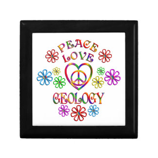 Boîte À Souvenirs Géologie d'amour de paix