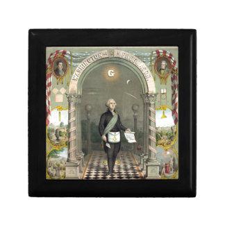 Boîte À Souvenirs George Washington en tant que franc-maçon