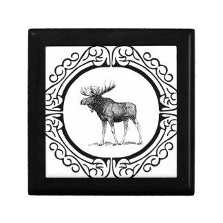 Boîte À Souvenirs grand art d'orignaux de taureau