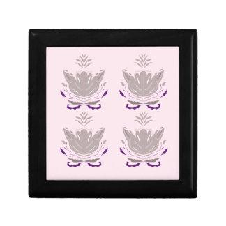 Boîte À Souvenirs Gris merveilleux de rose de lotus